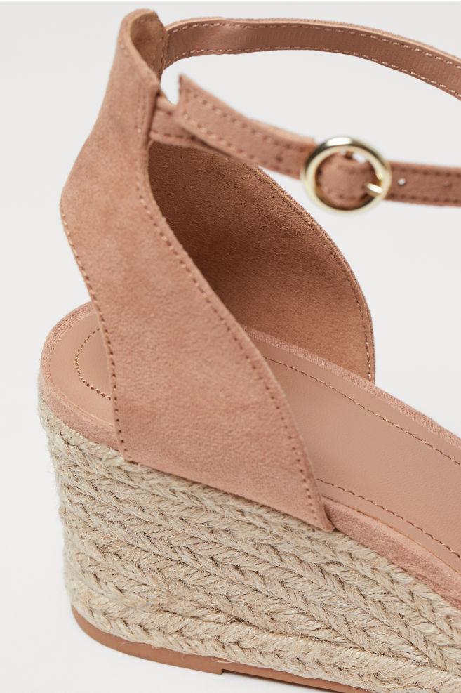 57c16ec083c ... Wedge-heel sandals - Powder beige - Ladies