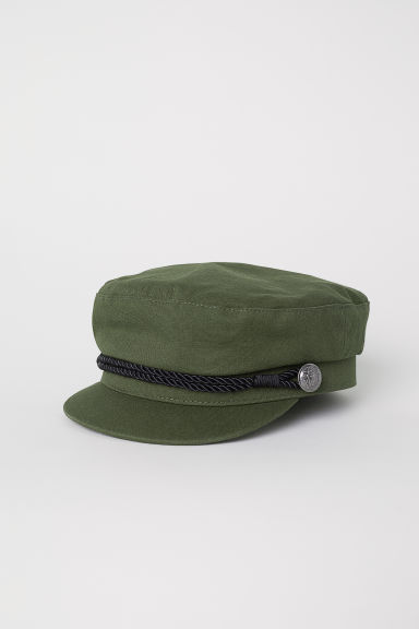 Captain's cap - Dark khaki green - Ladies | H&M CN