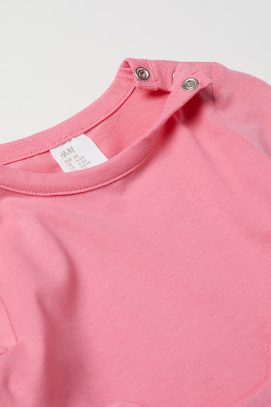 Appliquéd top - Pink/Cat - Kids | H&M CN