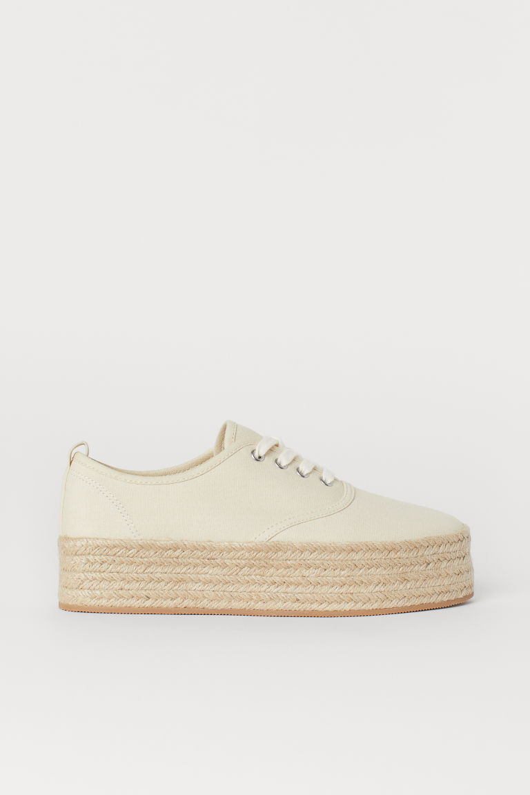Platform trainers - Cream - Ladies | H&M GB
