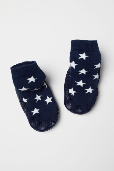 Moccasins - Dark blue/Stars - Kids | H&M
