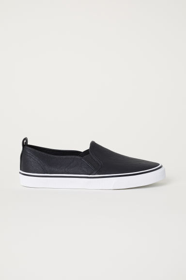 Slip-on trainers - Black - Ladies | H&M CN