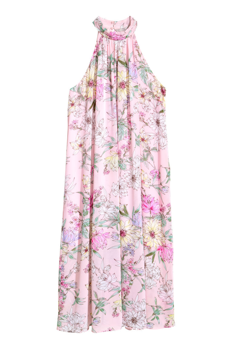 Chiffon dress - Light pink/Floral - Ladies | H&M