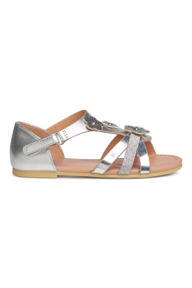 Sandals - Silver-coloured -  | H&M
