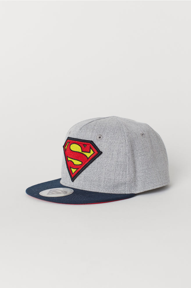 e1887694 Cap with an appliqué - Grey/Superman - Kids | H&M ...