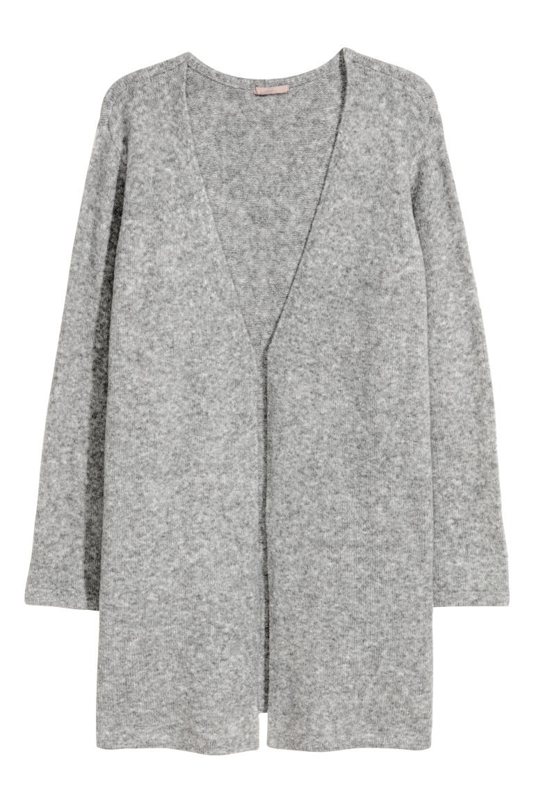 H&M+ Knitted cardigan - Grey marl - Ladies | H&M