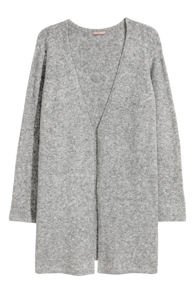 d2440e5b H&M+ Strikket cardigan - Gråmeleret - DAME   H&M ...