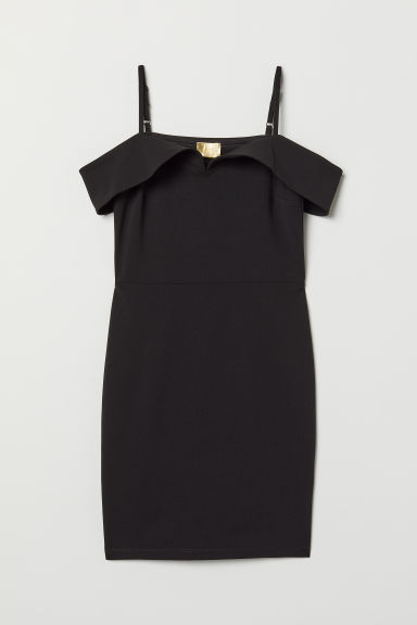 Cold shoulder dress - Black - Ladies | H&M