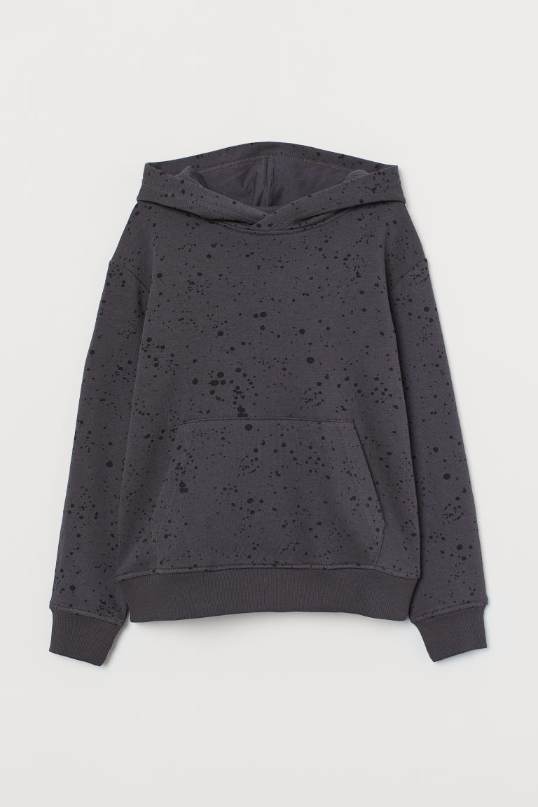 Hooded top - Dark grey/Black - Kids | H&M IN