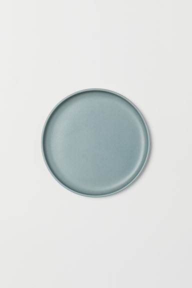 Stoneware plate - Light turquoise - Home All | H&M GB