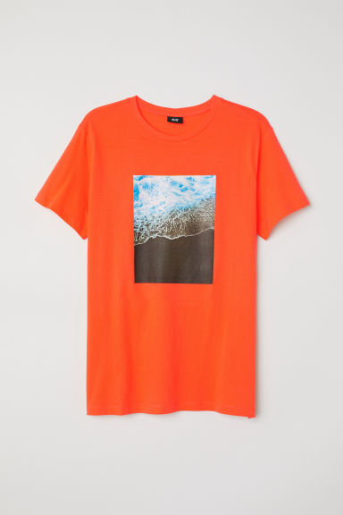 Printed T-shirt - Orange - Men | H&M CN