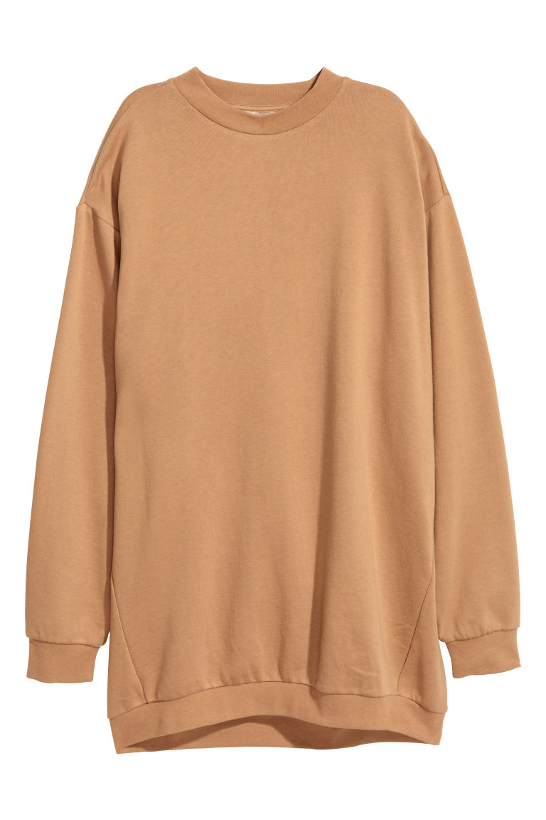 Oversized sweatshirt - Beige - Ladies | H&M CN