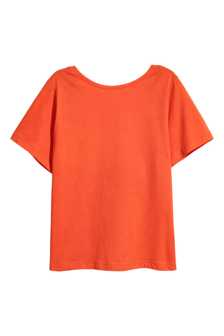 Top with a low-cut back - Orange -  | H&M CN