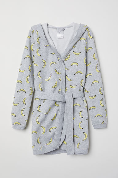 Dressing gown - Grey marl/Bananas -  | H&M