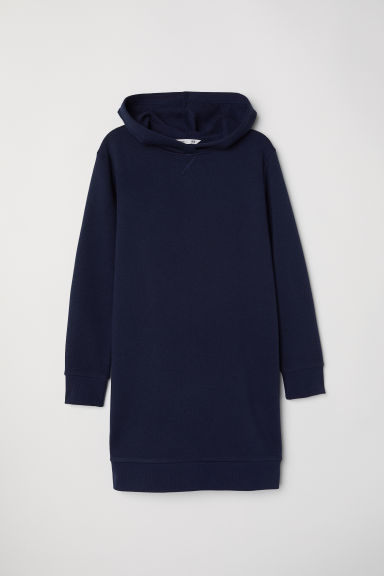Hooded sweatshirt dress - Dark blue - Kids | H&M CN