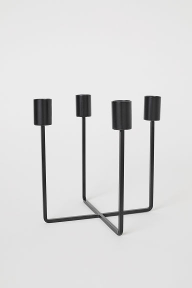 Metal candlestick - Black - Home All | H&M GB