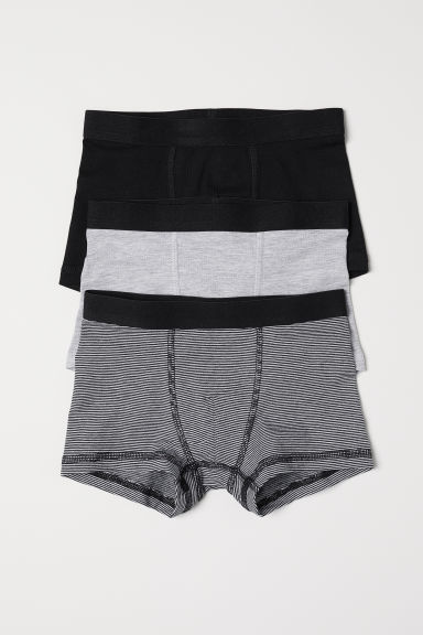 3-pack boxer shorts - Grey/Narrow striped - Kids | H&M CN