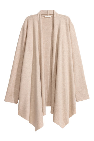 Fine-knit cardigan - Light beige -  | H&M GB