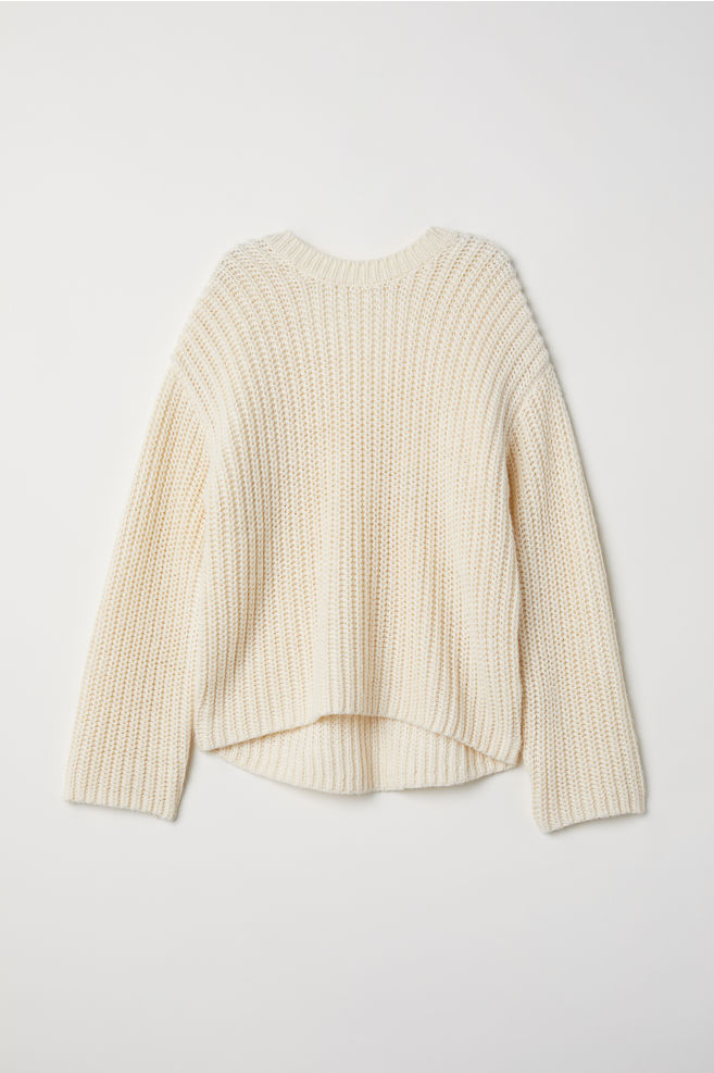9ac99e598e62a8 Knit Wool-blend Sweater - Cream - Ladies | H&M ...