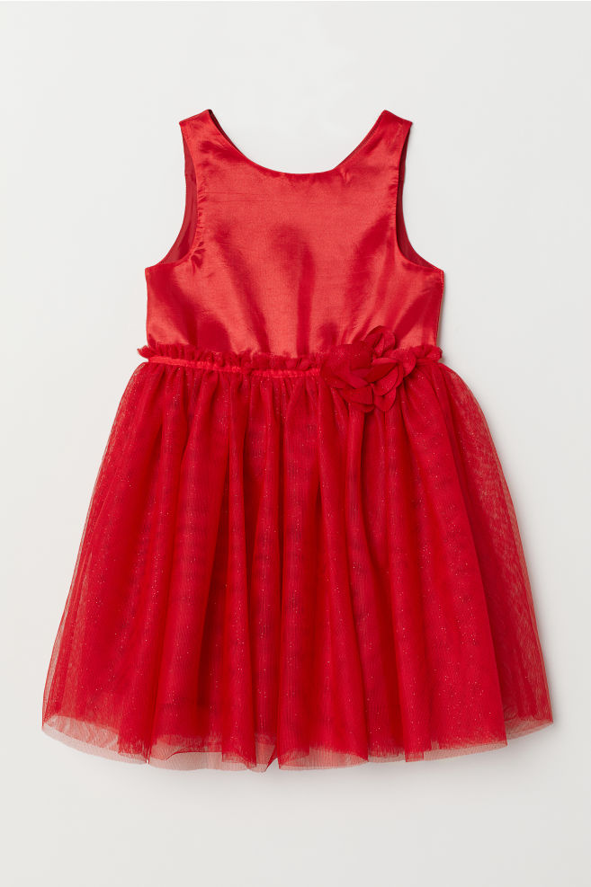 e12f3f19 Tulle dress - Red -   H&M 1