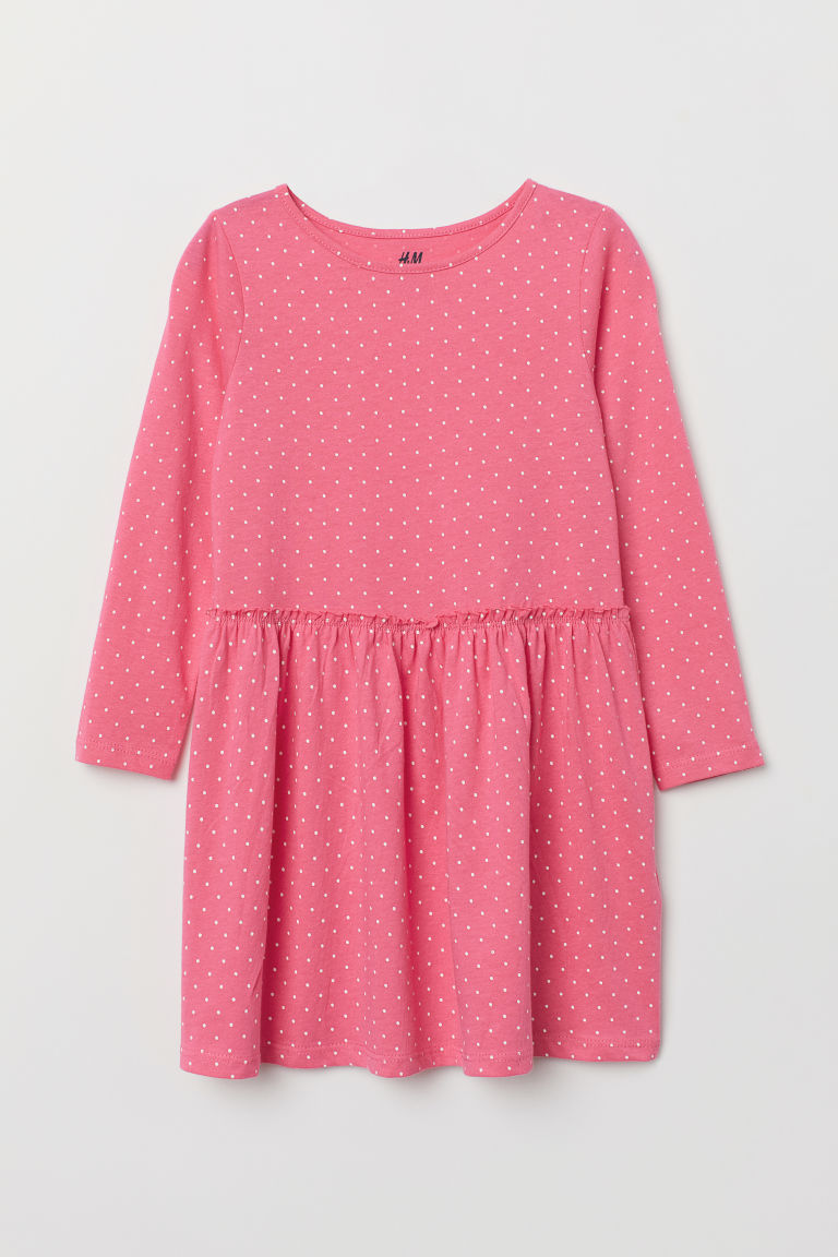 Patterned jersey dress - Pink/Spotted - Kids | H&M
