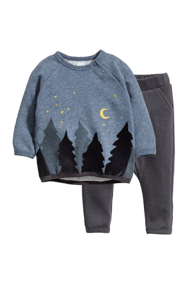 Sweatshirt and joggers - Blue -  | H&M CN