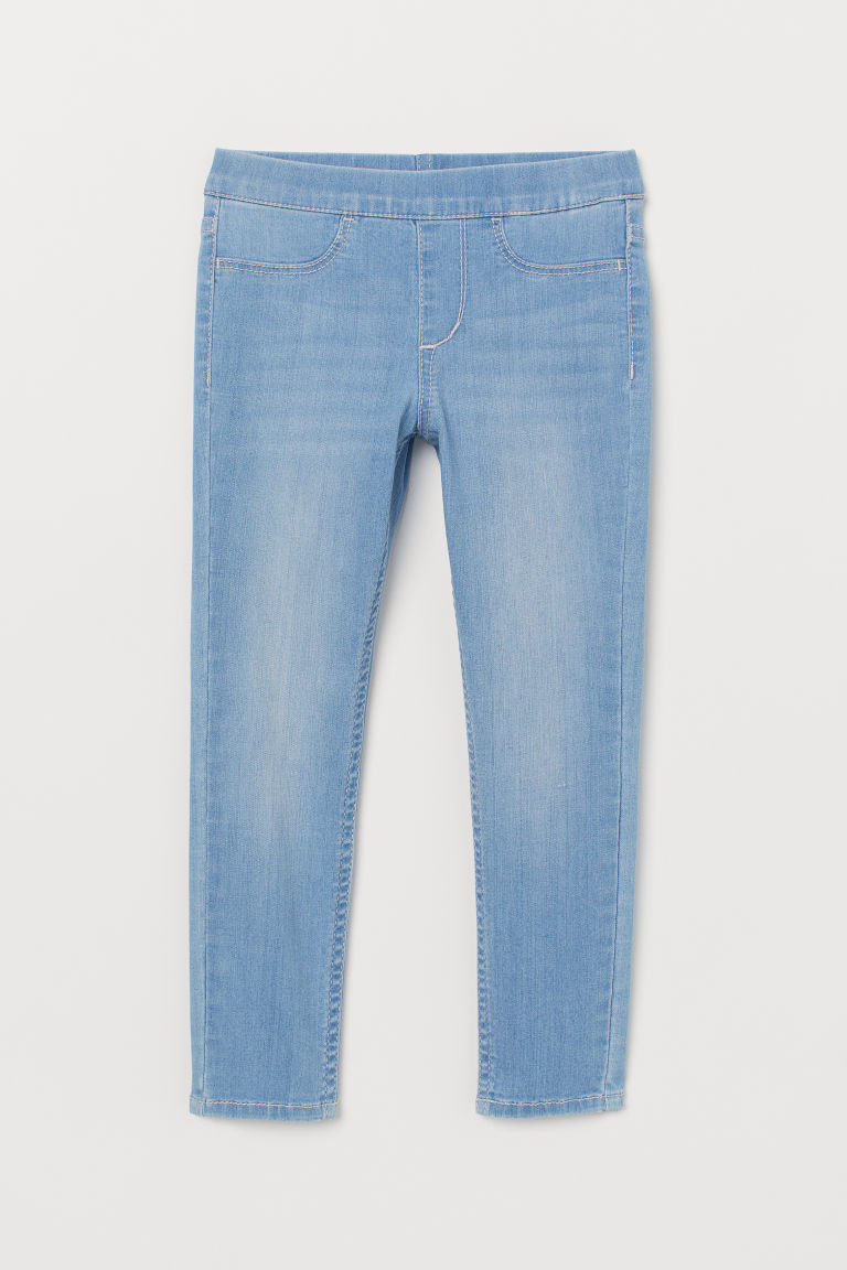 Denim leggings - Light blue -  | H&M