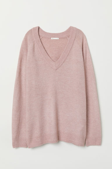 V-neck Sweater - Dusty rose - Ladies | H&M US