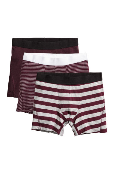 3-pack trunks - Dark red -  | H&M