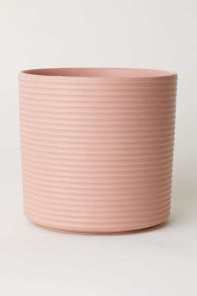 Large stoneware plant pot - Pink -  | H&M GB