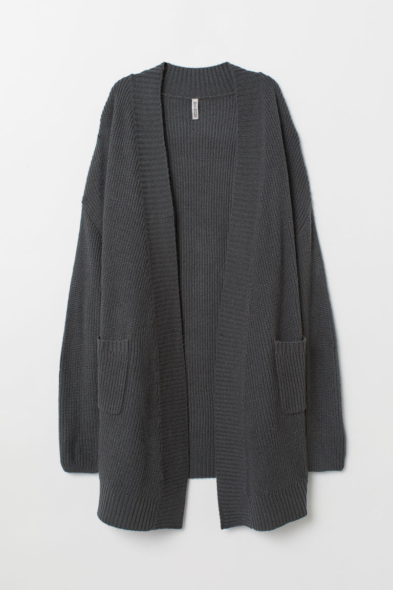 Knitted cardigan - Anthracite grey -  | H&M CN