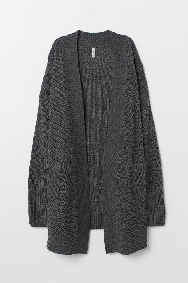 038f7186e849 Pletený sveter - antracitová -