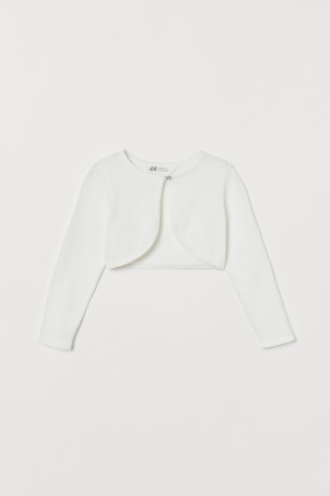 Fine-knit cotton bolero