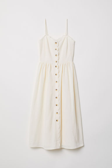 Button-front dress - Natural white - Ladies | H&M