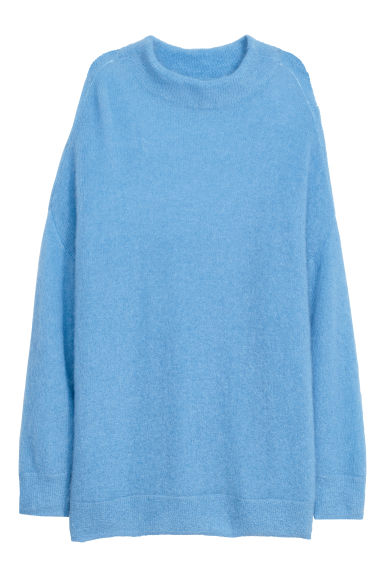 Knitted mohair-blend jumper - Light blue - Ladies | H&M CN