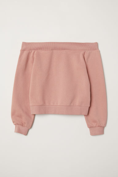 Off-the-shoulder top - Vintage pink - Ladies | H&M