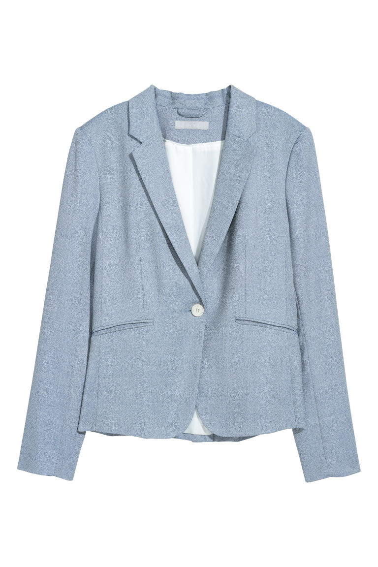 Fitted jacket - Light blue - Ladies | H&M IE
