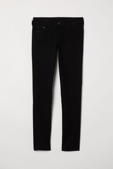 Super Skinny Low Jeans - Black denim - Ladies | H&M