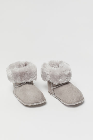Soft Slippers - Light gray - Kids | H&M CA