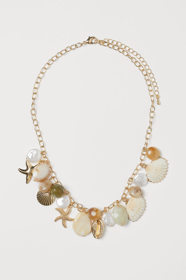 Short necklace - Gold-coloured/Multicoloured - Ladies | H&M GB