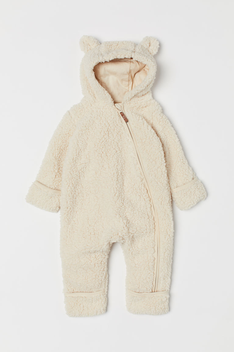 Pile all-in-one suit - Natural white - Kids | H&M