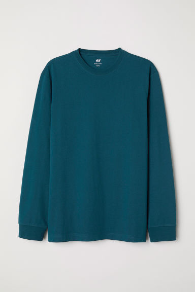 Jersey top Regular fit - Dark green -  | H&M