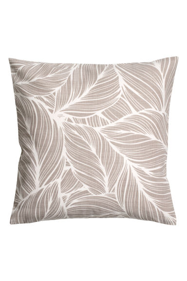 Slub-weave cushion cover - Grey/White patterned -  | H&M CN
