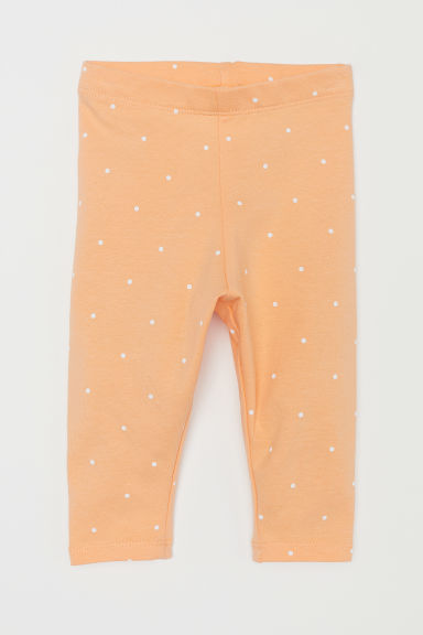 Jersey leggings - Light orange - Kids | H&M CN