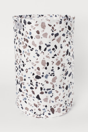 Patterned Laundry Basket