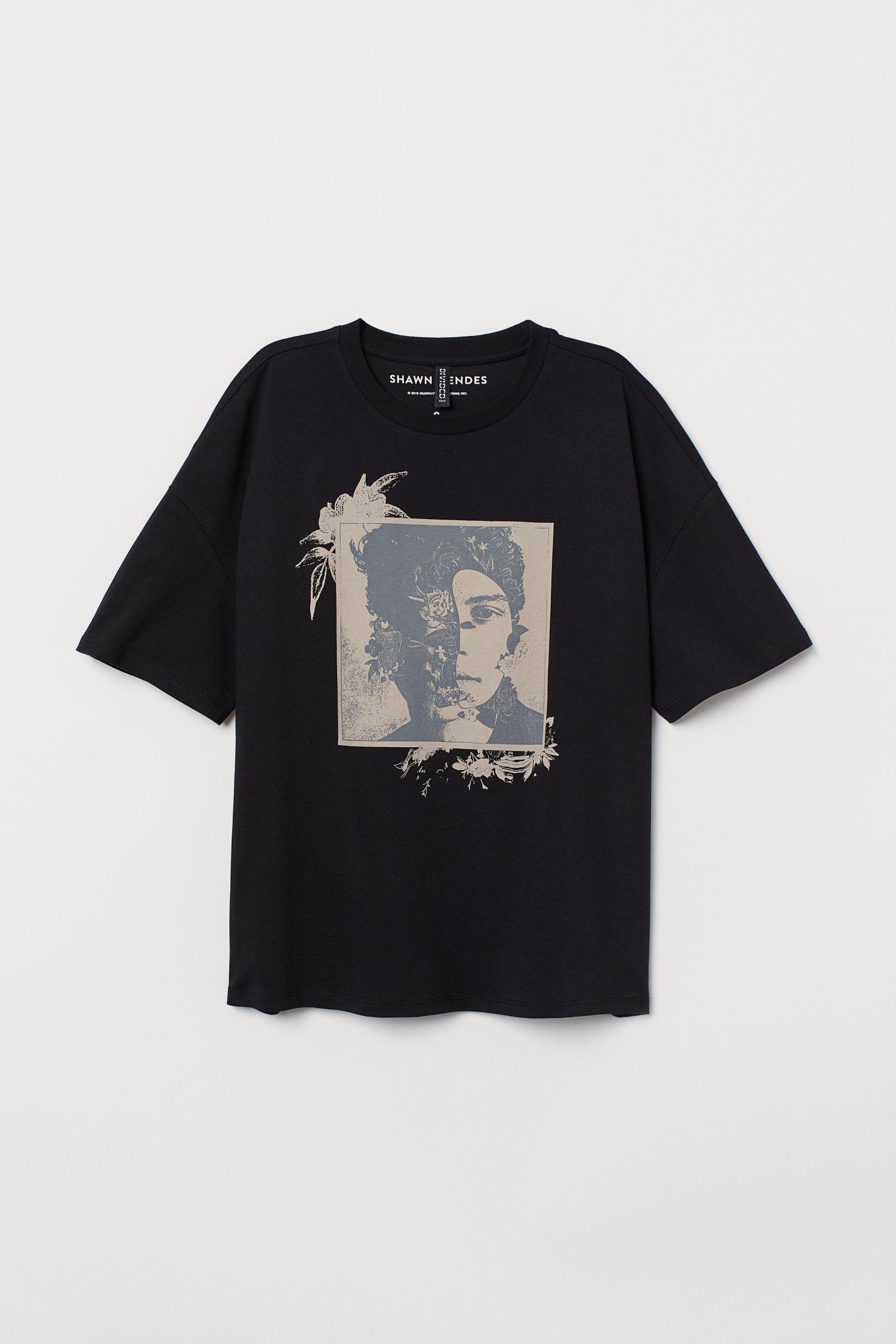 bb980b28 Baskılı Tişört - Siyah/Shawn Mendes - | H&M TR