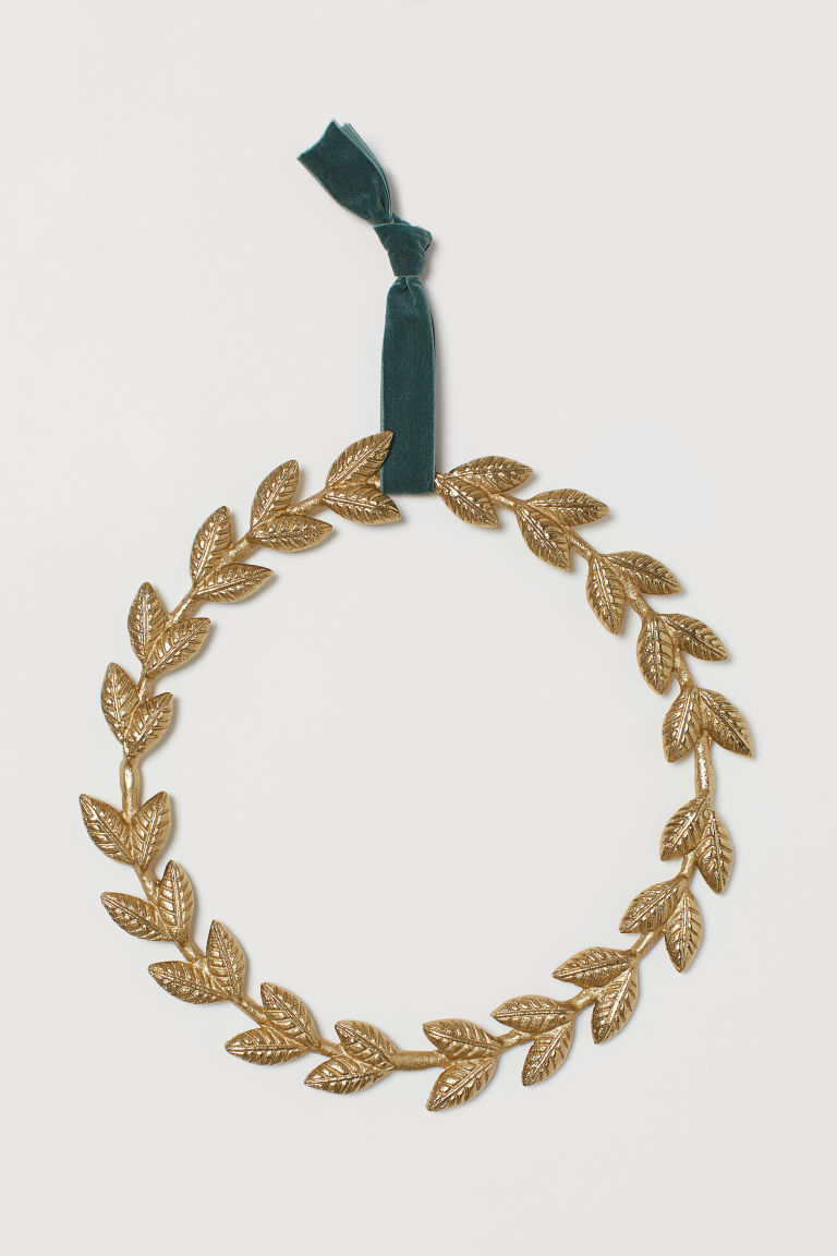 Metal wreath - Gold-coloured - Home All | H&M GB