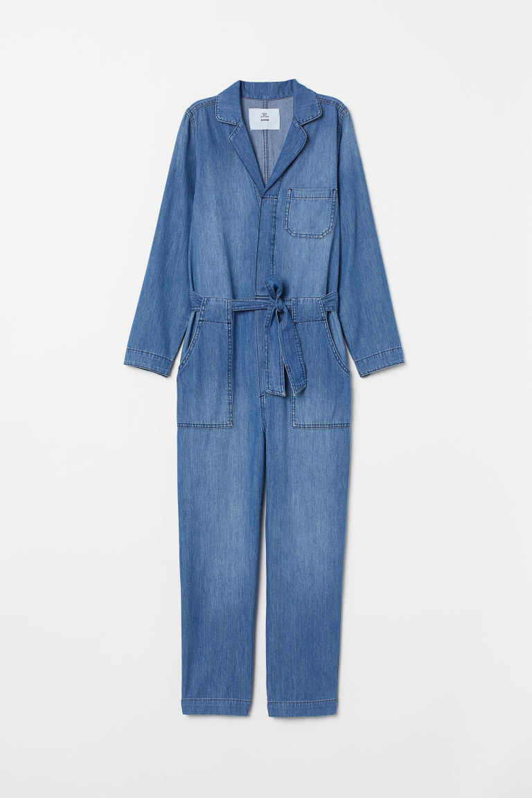 Denim boiler suit - Denim blue -  | H&M GB
