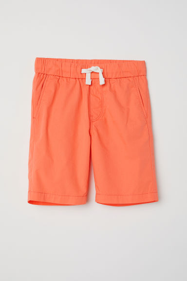 Cotton shorts - Coral - Kids | H&M