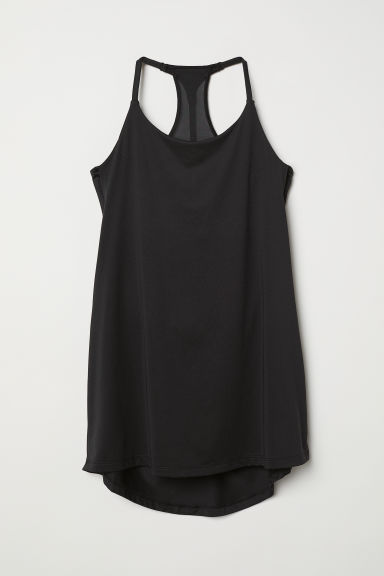 Sports top with sports bra - Black - Ladies | H&M